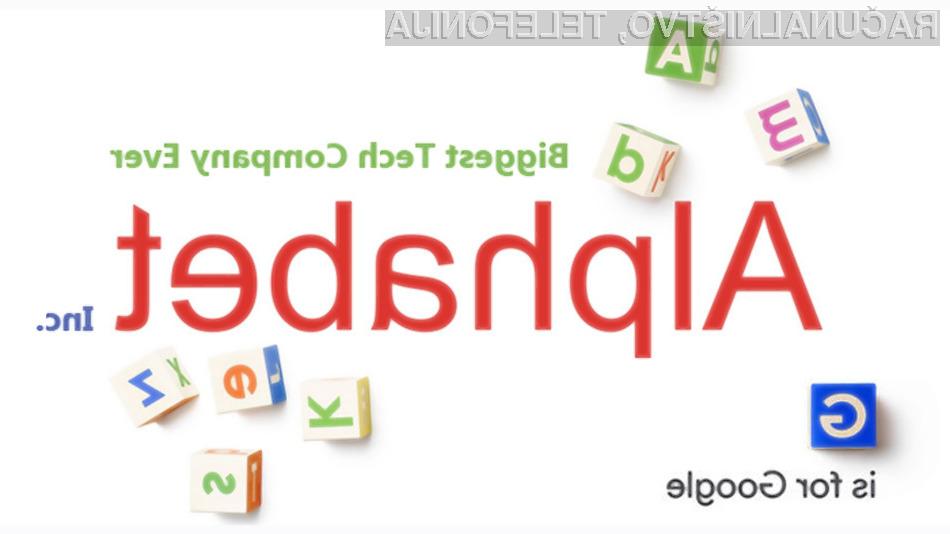 Google odslej pod okriljem Alphabeta