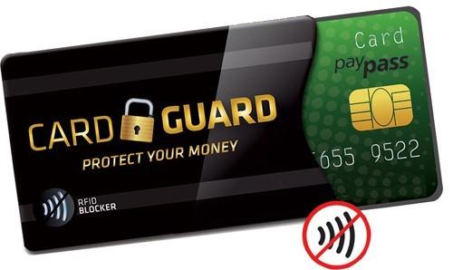 IDE.Card Guard zaščiti denar na računu, kartični hotelski ključ, klubsko kartico, vašo identiteto, dostopne podatke in informacije, ki jih shranjujete na karticah RFID.