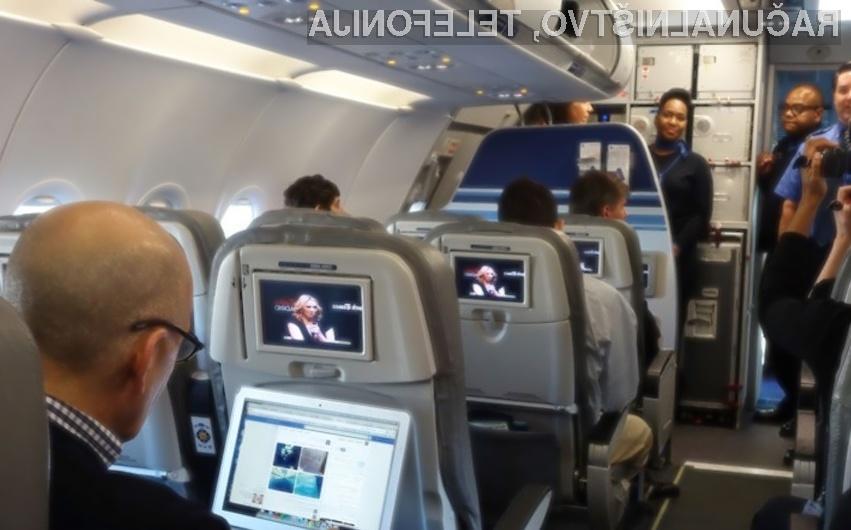 Vse potnikom letalske družbe JetBlue bo kmalu na voljo hitri satelitski internet!