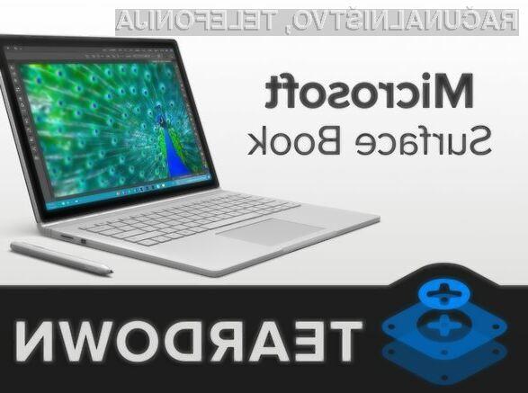 Microsoftov kompaktni prenosni računalnik Surface Book je vse prej kot enostaven za popravilo!