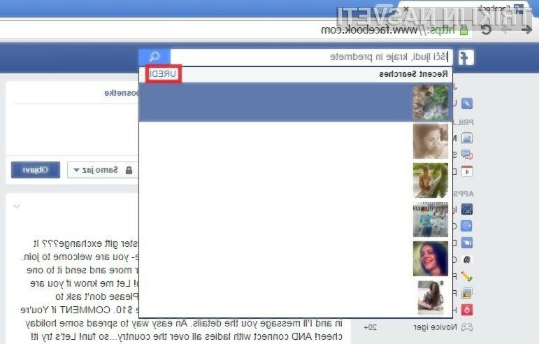 Brisanje zgodovine na Facebooku je nadvse enostavno opravilo.