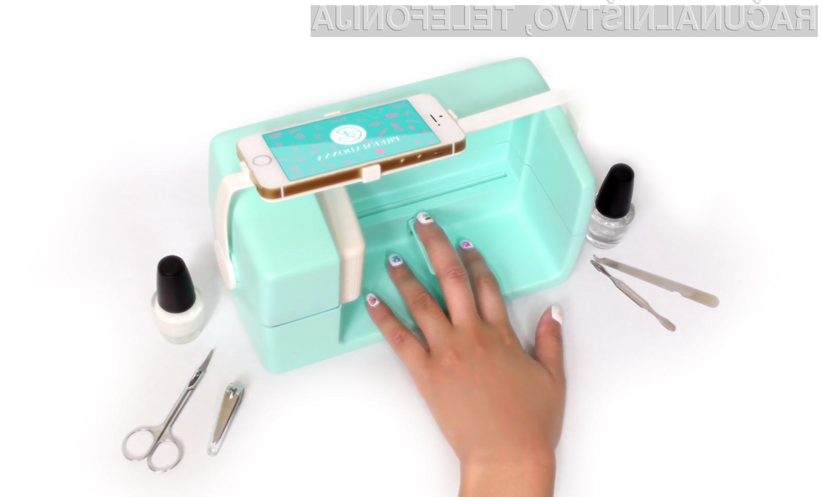 Tiskalnik za ženske Preemadona Nailbot z mobilno napravo povežemo kar preko modrozobe povezave.