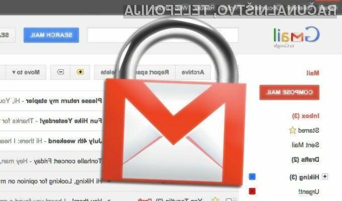 Gmail uporabnike opozarja na sporočila, ki bi lahko bila ponarejena ali okužena.