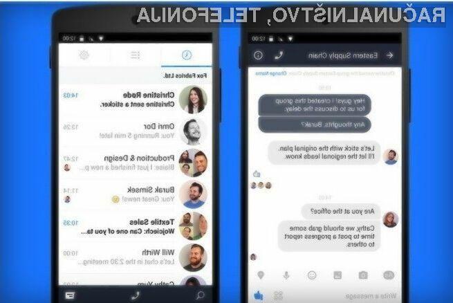 Facebook Messenger za poslovna okolja bo omogočal izmenjavo sporočil zgolj med sodelavci.