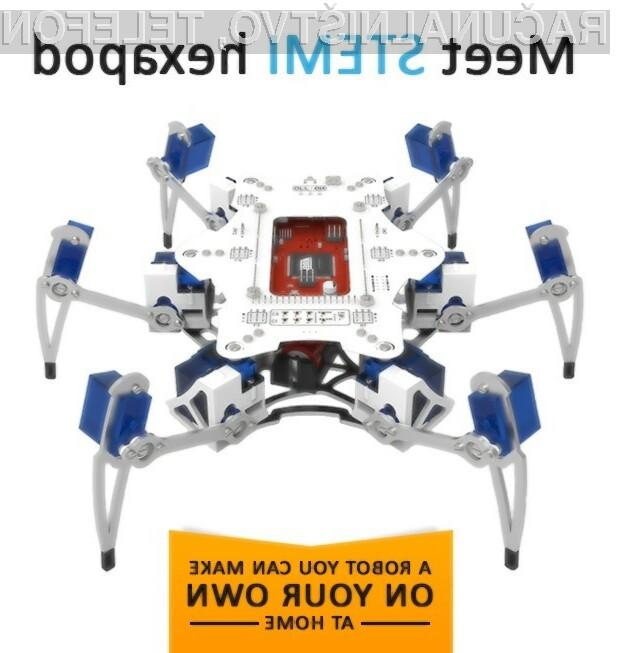 Domači šestnožni robot je zlahka prepričal uporabnike portala IndieGoGo.