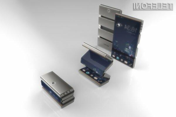 Zložen mobilnik Drasphone je komajda večji od običajnega pomnilniškega ključa USB.