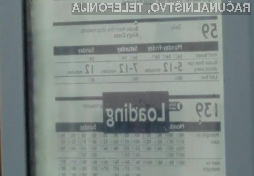 Uporabniki avtobusnih storitev v Londonu so nad elektronskimi zasloni zelo navdušeni!
