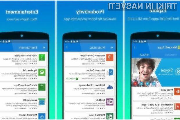 Programsko opremo Microsoft Apps so uporabniki mobilnih naprav Android dobro sprejeli!