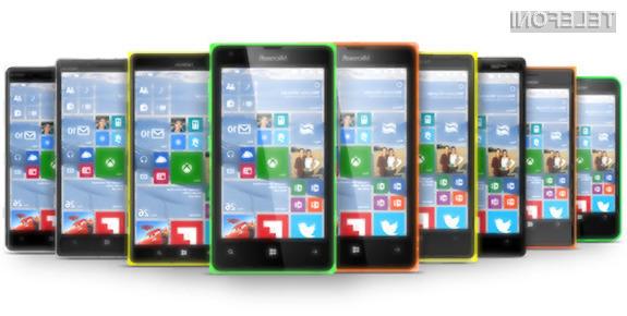 Mobilni operacijski sistem Windows 10 Mobile naj bi prejela bogata paleta naprav Lumia!