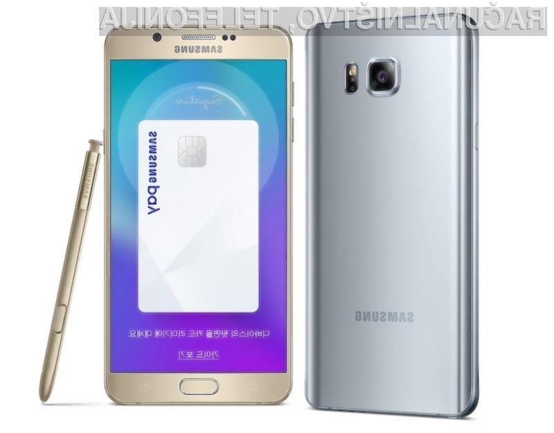 Mobilni telefon Samsung Galaxy Note 5 Winter Edition z ogromnim pomnilnikom je trenutno naprodaj le v Južni Koreji!