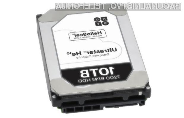 Trdi disk HGST Ultrastar He10 je zaradi visoke cene namenjen bolj kot ne najzahtevnejšim uporabnikom!