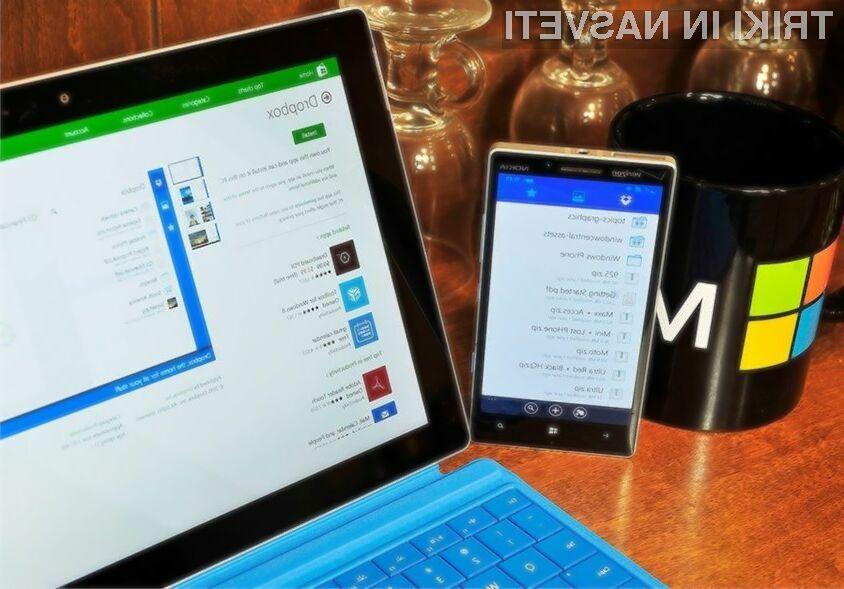 Vse možnosti novega Dropboxa bodo v polni meri na voljo le uporabnikom operacijskega sistema Windows 10.