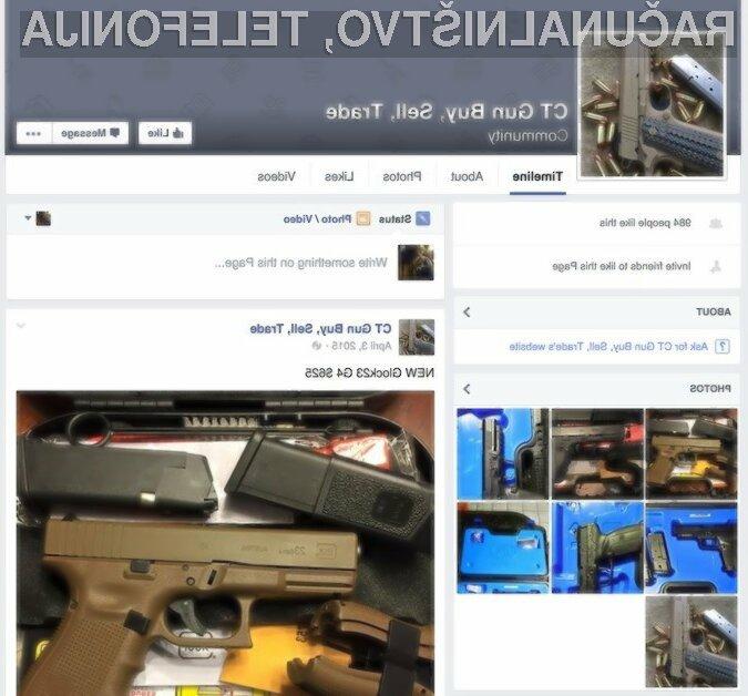 Facebook je prepovedal vsakršno obliko zasebne prodaje strelnega orožja.