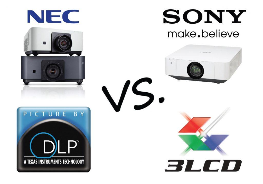 Dvoboj NEC in SONY projektorjev - Laser DLP vs. Laser LCD