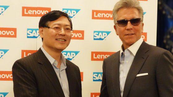 Yang Yuanqing, Lenovo and Bill McDermott, SAP