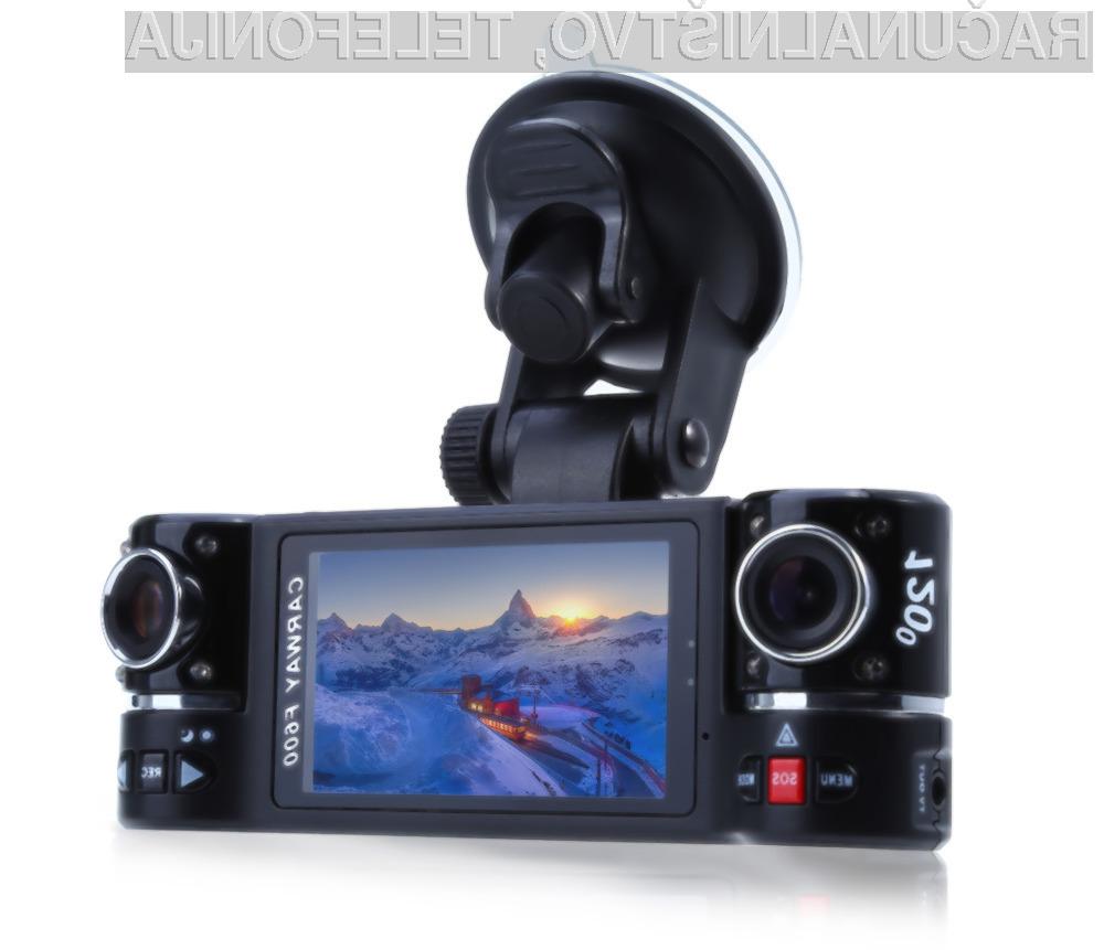 Avtomobilska kamera F600 nudi vse, kar potrebujemo za beleženje dogajanja na cesti in parkirišču.