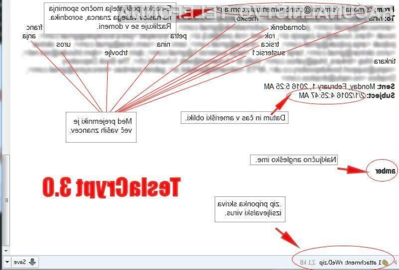 Zlonamerna koda TeslaCrypt 3.0 naj bi pretentala že številne uporabnike spleta!