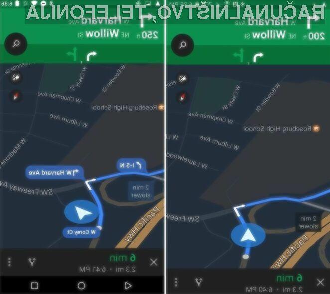 Novi Google Maps za Android ve, kdaj mora biti tiho!