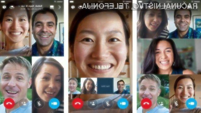 Novi mobilni Skype je prinesel možnost skupinskih videoklicev!