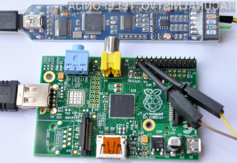 Poceni osciloskop z računalnikom Raspberry Pi