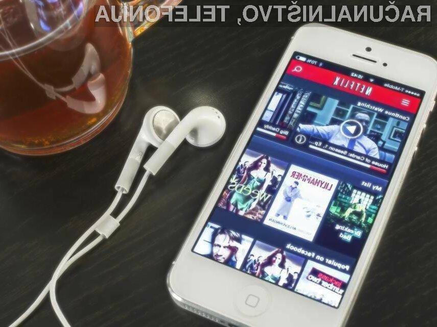 Netflix bo kmalu porabil polovico manj mobilnega podatkovnega prometa, kot ga porabi danes.
