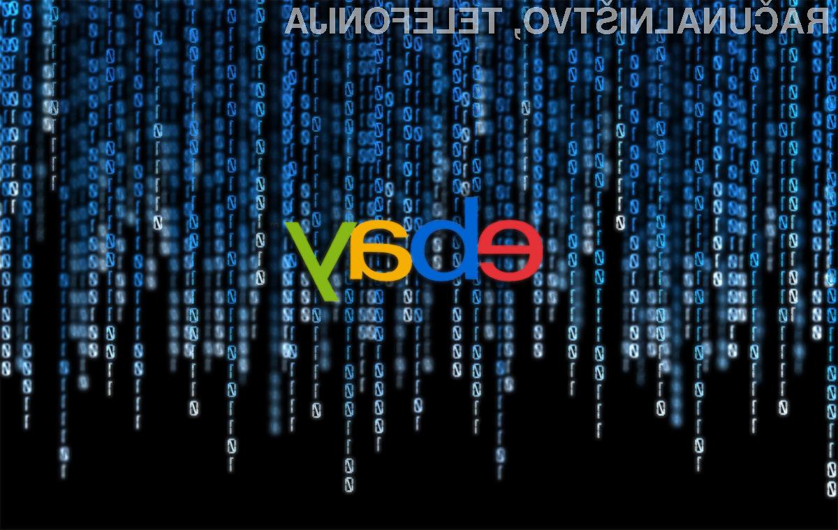 Če vam je mar za vašo varnost, ne uporabljajte storitev podjetja eBay