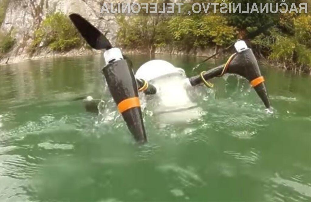 Poceni dron CRACUNS lahko brez poškodb zdrži tudi dva meseca v slani vodi.