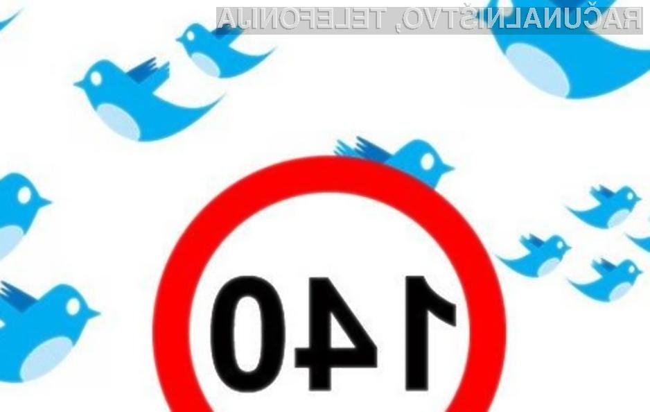 Twitter vsaj za zdaj znakovno omejitev ne bo povečal iz 140 znakov na 10 tisoč znakov.