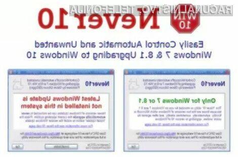 Preprečite namestitev operacijskega sistema Windows 10!
