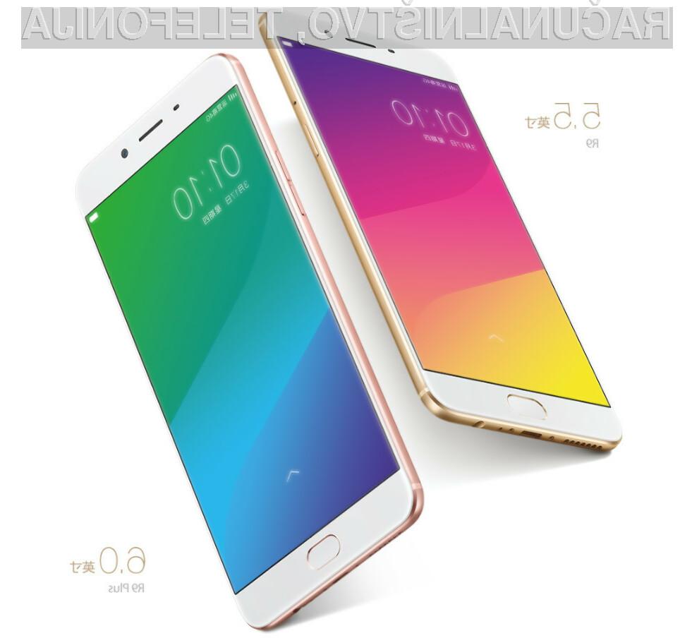 Pametni mobilni telefon Oppo R9 je prepričal tudi najzahtevnejše uporabnike storitev mobilne telefonije.