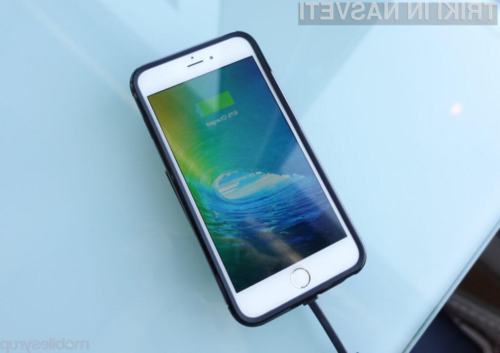 Pametni mobilni telefon lahko brez bojazni kadarkoli priključimo na polnilnik.