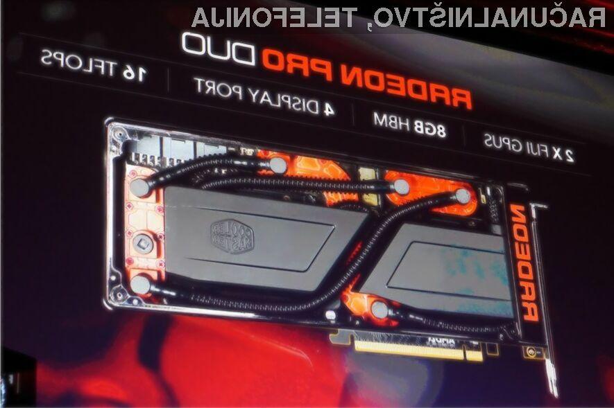 Grafična kartica AMD Radeon Pro Duo bo zlahka kos vsem računalniškim igram!