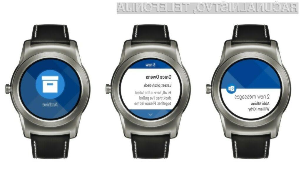 Novi Outlook se odlično prilega pametnim ročnim uram Android Wear!