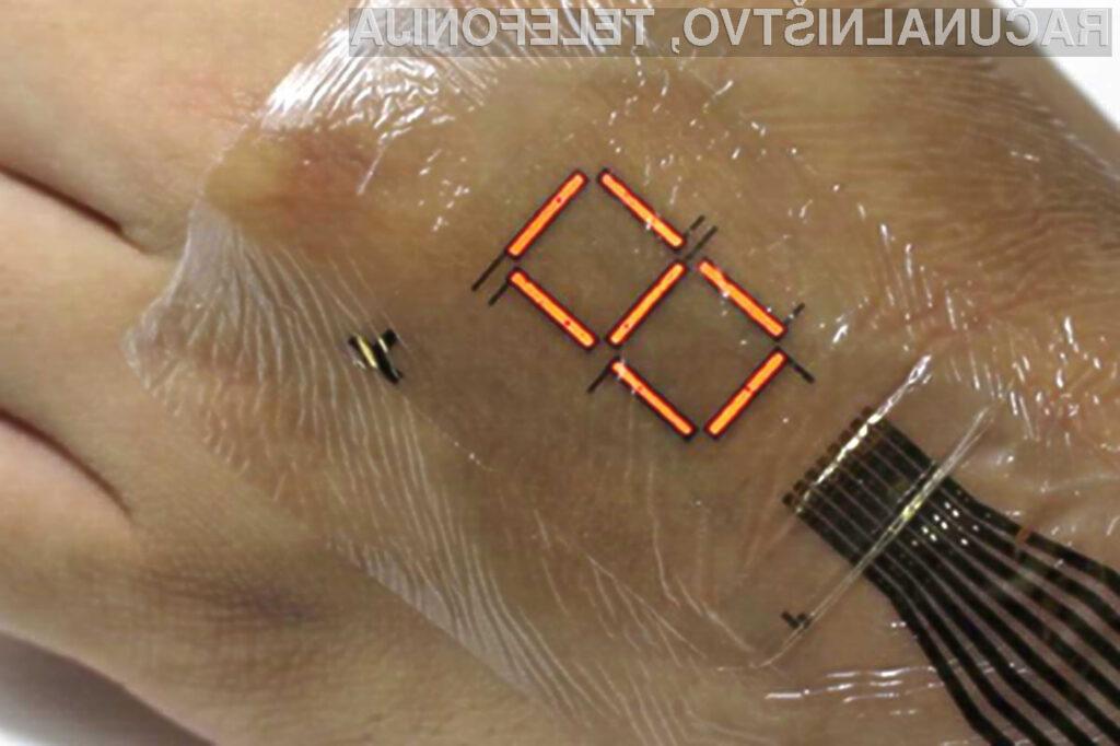 V bližnji prihodnosti bi lahko imeli zaslone prilepljene kar na kožo!