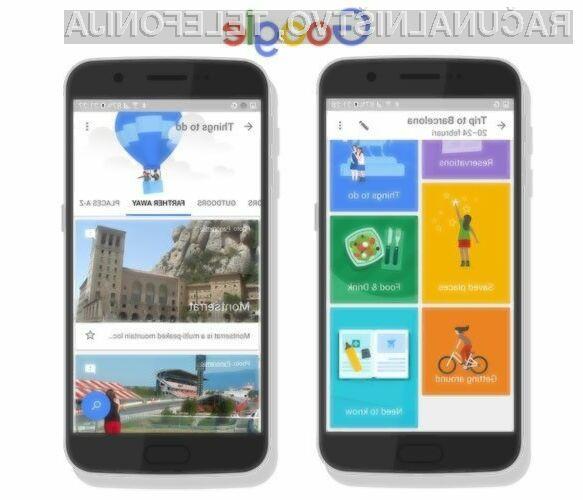 Mobilna programska oprema Google Trips nam bo močno olajšala načrtovanje potovanj!
