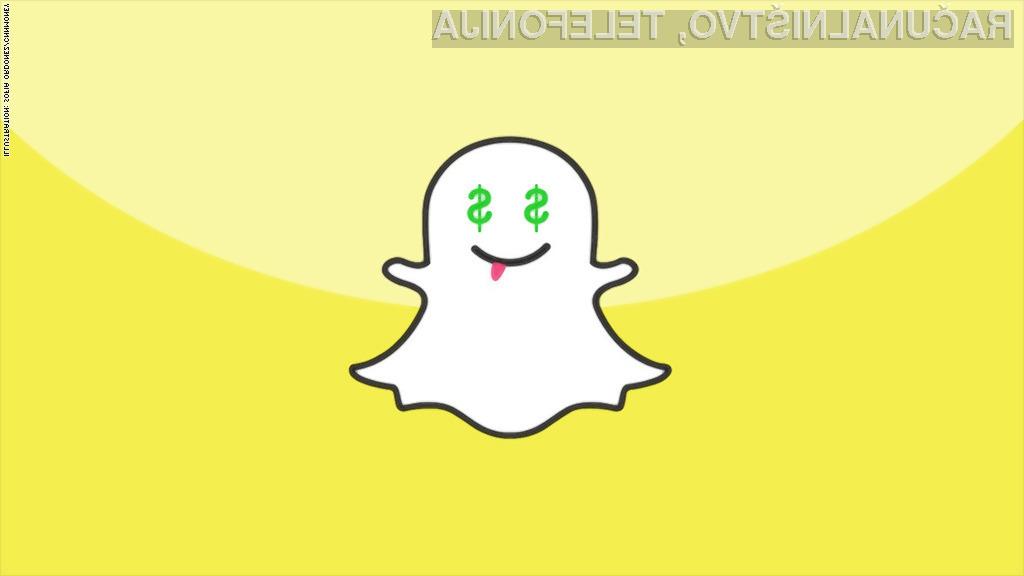 Snapchat vreden 20 milijard dolarjev, a iščejo nove investitorje
