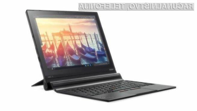 Najboljša tablica Lenovo ThinkPad X1 je odslej na voljo za nakup tudi v Evropi!