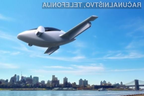 Zasebno električno letalo z navpičnim vzletom