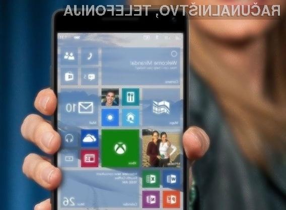 Novi Windows Mobile 10 naj bi postal konkurenčnejši operacijskima sistemoma Android in iOS!