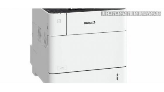 Canon krepi serijo i-SENSYS z novimi enofunkcijskimi tiskalniki visokih hitrosti