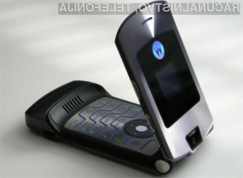 Legendarni telefoni Motorola Razr bodo kmalu ponovno med nami.