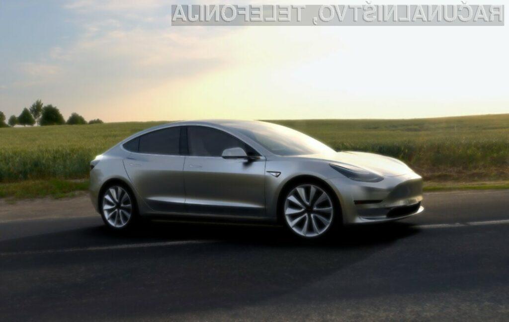 Podjetje Tesla naj bi letno proizvedlo kar 500 tisoč električnih avtomobilov Model 3.
