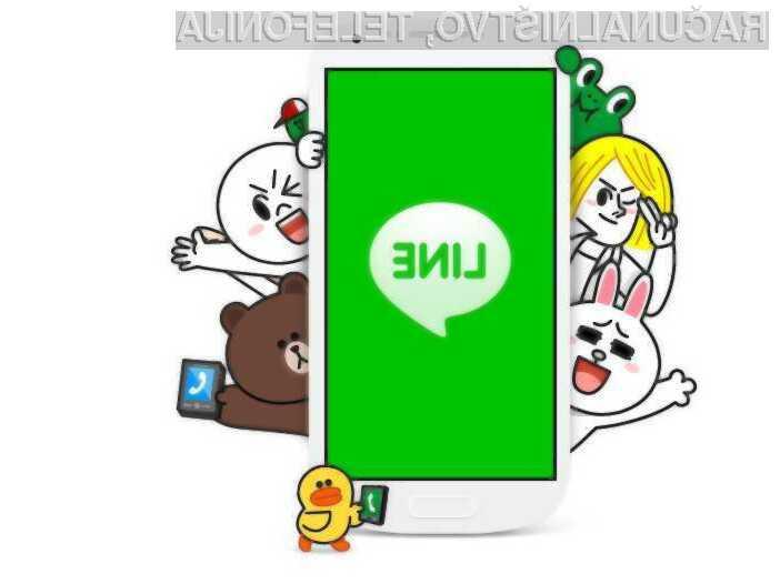 Pol milijarde prenosov za super aplikacijo Line