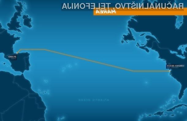 Hitrost novega podmorskega podatkovnega kabla bo znašala kar 160 terabitov na sekundo.