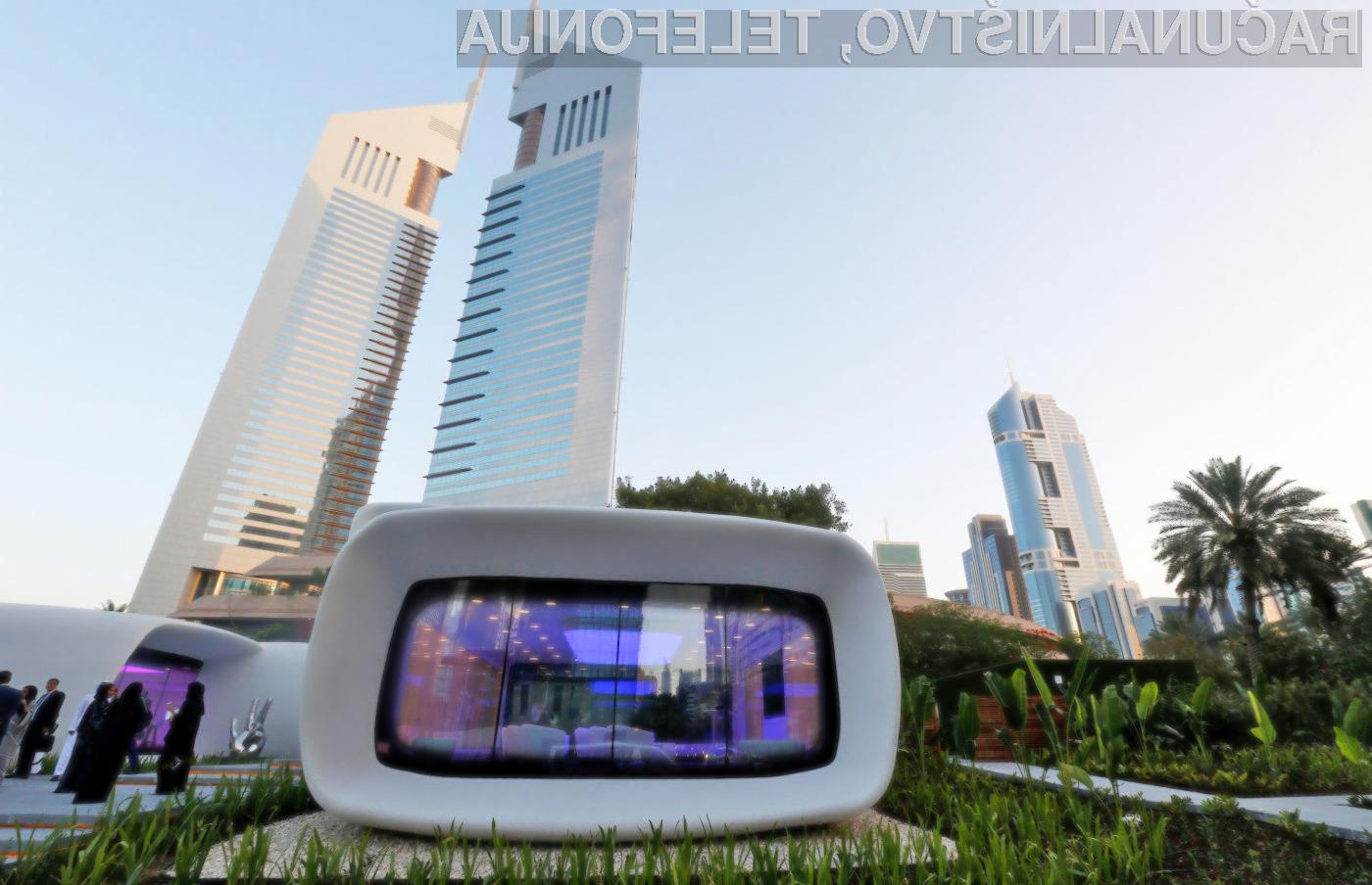 Do leta 2030 naj bi bilo s 3D tiskalnikom natisnjenih že kar četrtina vseh novih stavb v Dubaju.