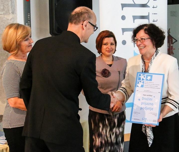 SAOP s polnim certifikatom Družini prijazno podjetje