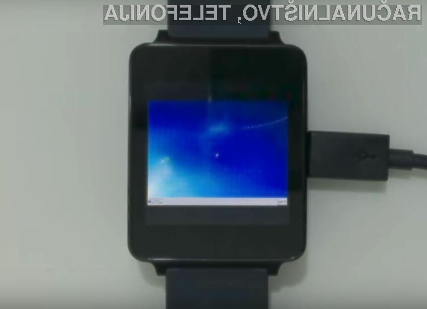 Neverjetno! Windows 7 na pametni ročni uri Android Wear