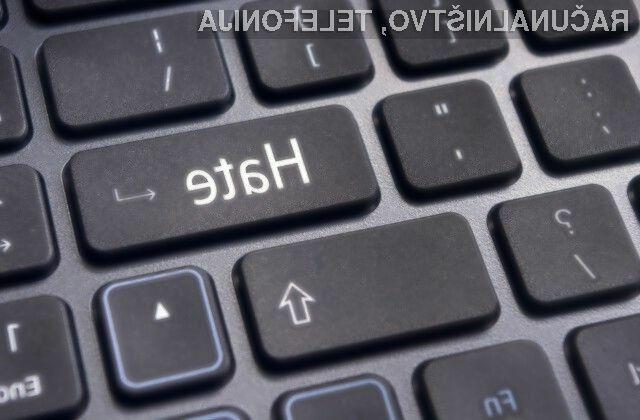 Sovražni govor nima prostora na svetovnem spletu.