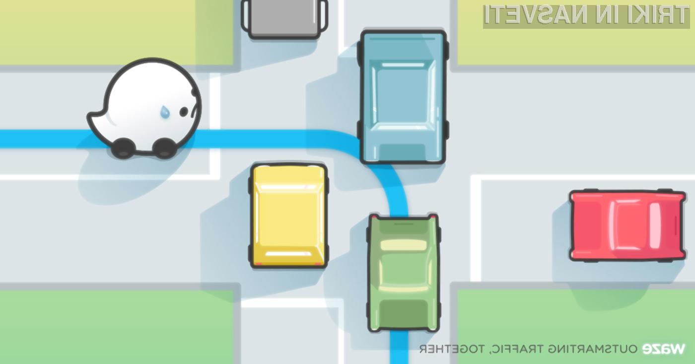 Aplikacija Waze nas bo preusmerila na tisto pot, ki bo hitrejša in bo opremljena z ustrezno prometno signalizacijo.