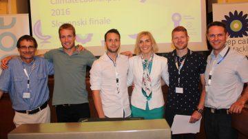 Slovenski zmagovalec je ekipa Hidrosol s projektom toplotne črpalke na elektrolizo vode